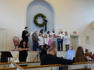 Improvised Christmas Pageant, First Universalist Society, Burlington, Vt