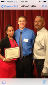 Wanda, Ron, and scholarship winner Adam Kramer
